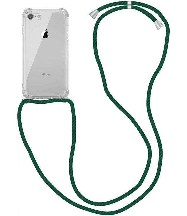 Sino Tech iPhone 7/8/SE 2020 Hoesje Transparant met Koord
