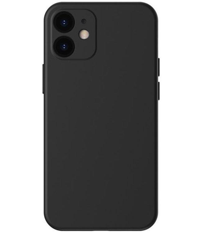 Sino Tech iPhone 12 Mini Silicone Hoesje Zwart