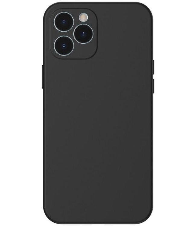 Sino Tech iPhone 12 Pro Max Silicone Hoesje Zwart