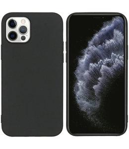Sino Tech iPhone 12/iPhone 12 Pro Silicone Hoesje Zwart