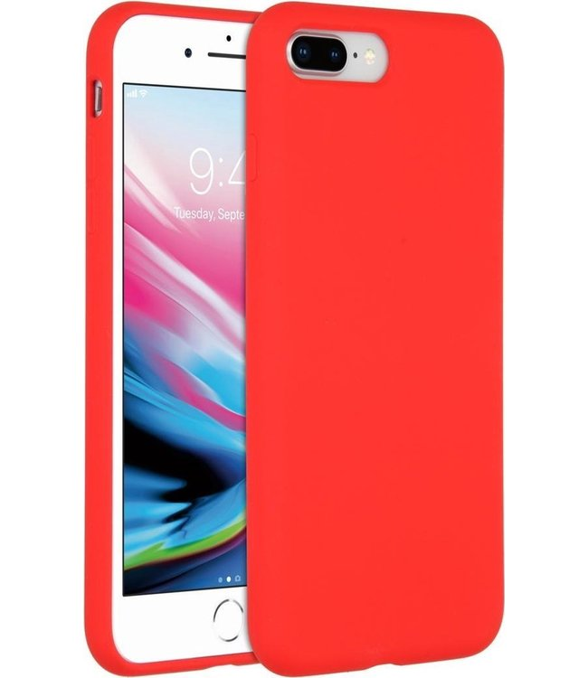 Sino Tech iPhone 7 Plus/8 Plus Silicone Hoesje Rood