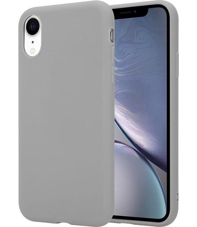 Sino Tech iPhone XR Silicone Hoesje Grijs