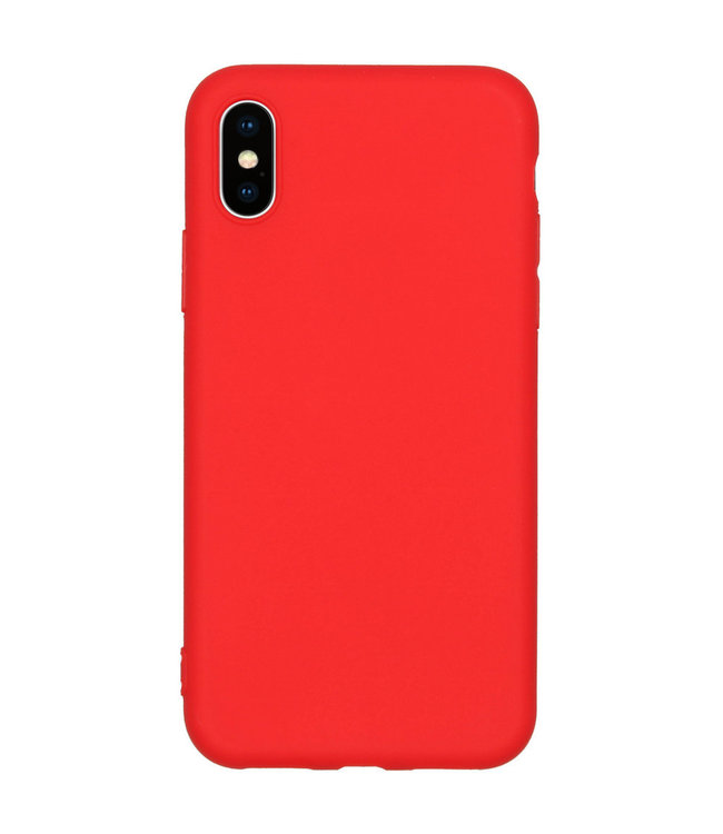Sino Tech iPhone X/XS Silicone Hoesje Rood
