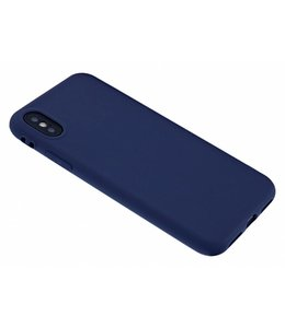 Sino Tech iPhone X Silicone Hoesje Donker Blauw