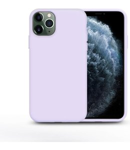 Sino Tech iPhone 11 Silicone Hoesje Paars