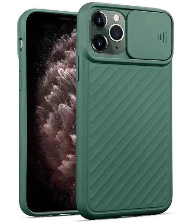 Sino Tech iPhone 11 Pro Hoesje Camera Protector Groen