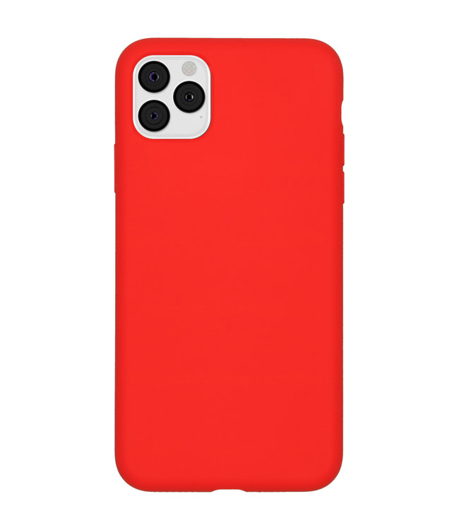 Sino Tech iPhone 11 Pro Max Silicone Hoesje Rood