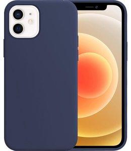 Sino Tech iPhone 12 Mini Silicone Hoesje Blauw