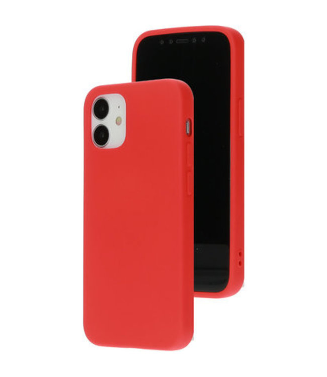 Sino Tech iPhone 12 Mini Silicone Hoesje Rood