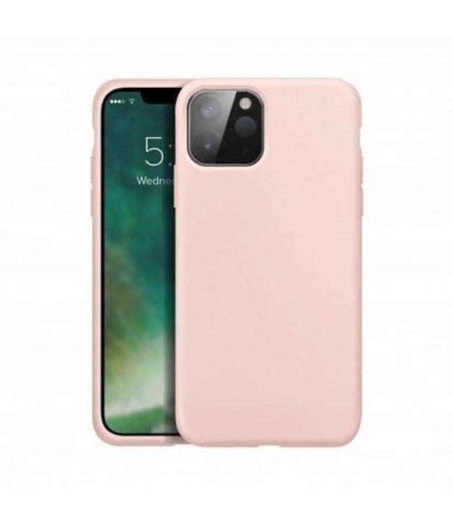 Sino Tech iPhone 12 Mini Silicone Hoesje Roze