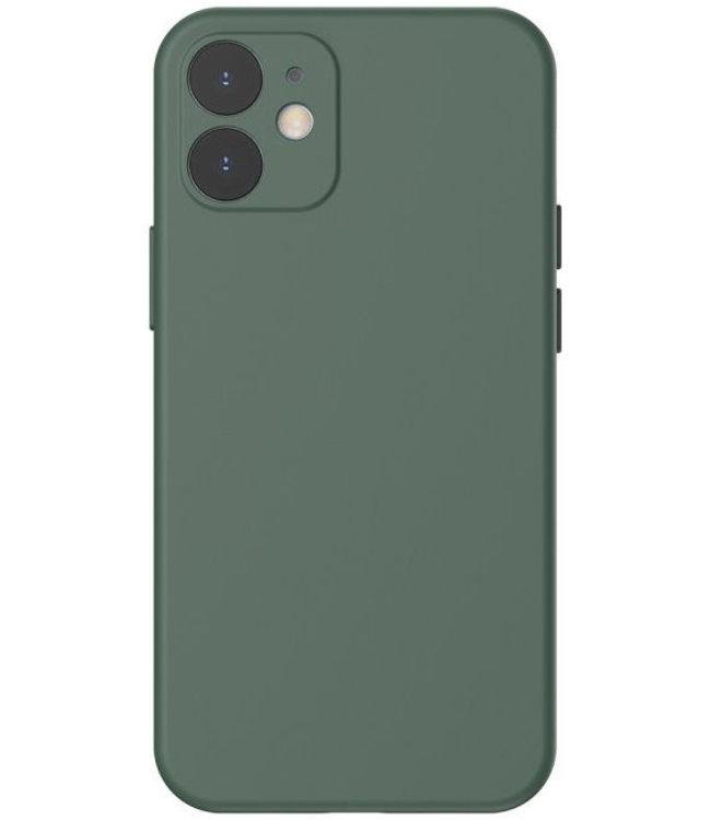 Sino Tech iPhone 12 Mini Silicone Hoesje Donker Groen