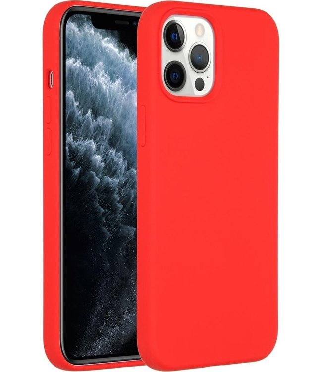 Sino Tech iPhone 12 Pro Max Silicone Hoesje Rood