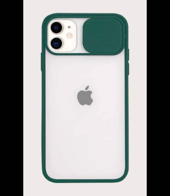 Sino Tech iPhone SE 2020 Hoesje Camera Protector Groen