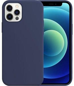Sino Tech iPhone 12 Pro Max Silicone Hoesje Blauw