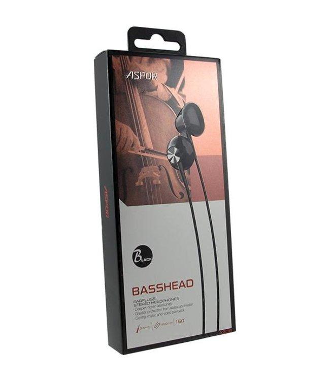 Aspor Basshead Headphones Zwart