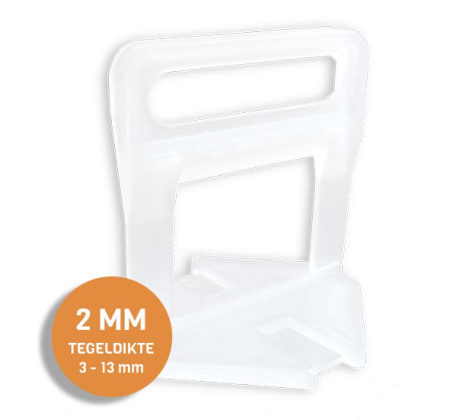 Fix Plus ® Levelling Clips 2 mm. 100 st.
