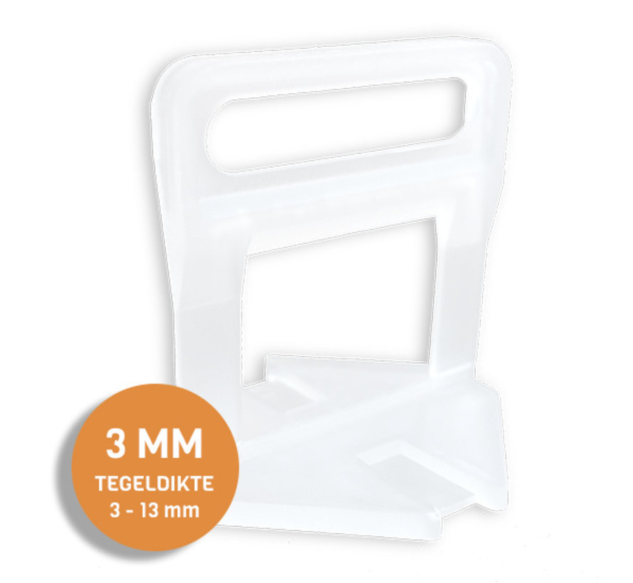 Fix Plus ® Levelling Clips 3 mm. 250 st.