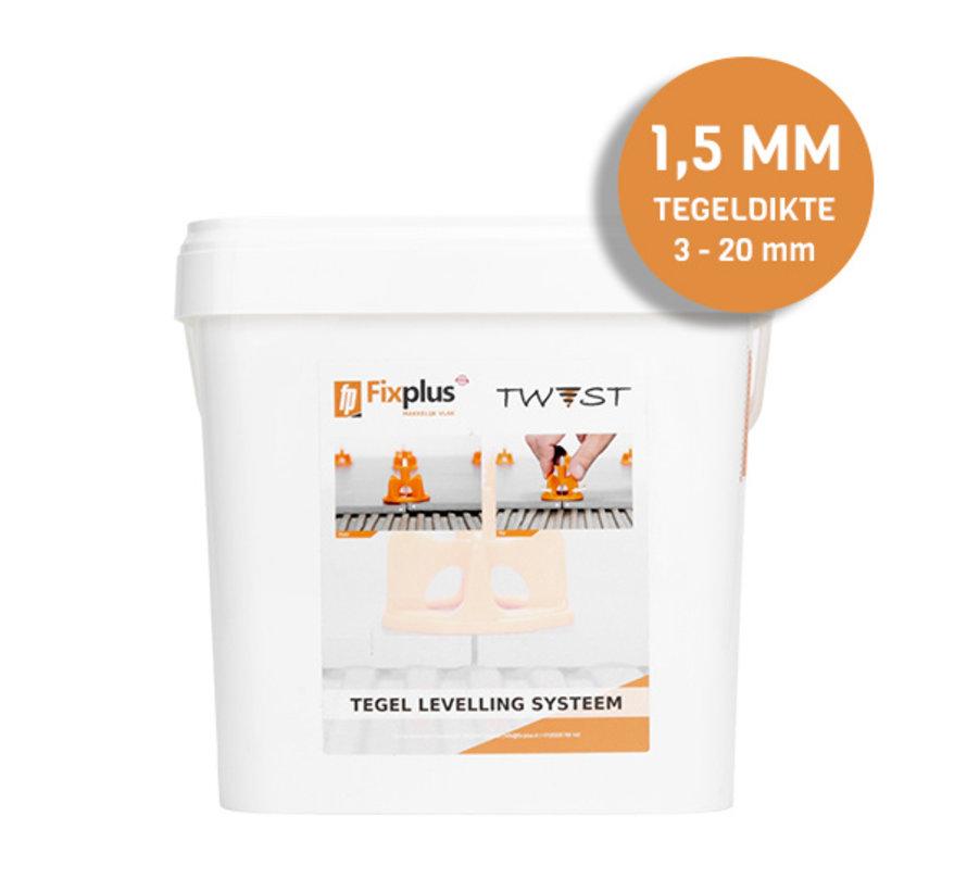Fix Plus ® Twist Clips 500 st. 1,5 mm