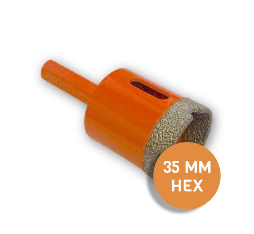Fix Plus ® Tegelboor HEX Ø 35mm.