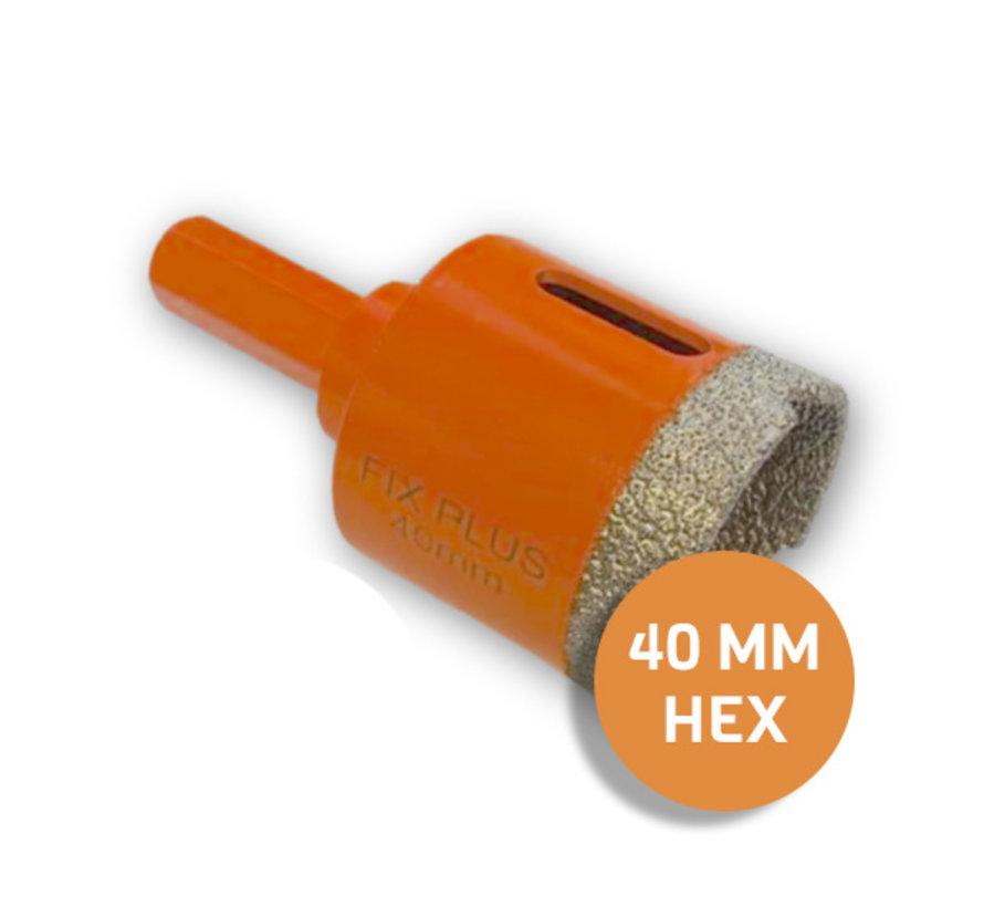 Fix Plus ® Tegelboor HEX Ø 40mm.