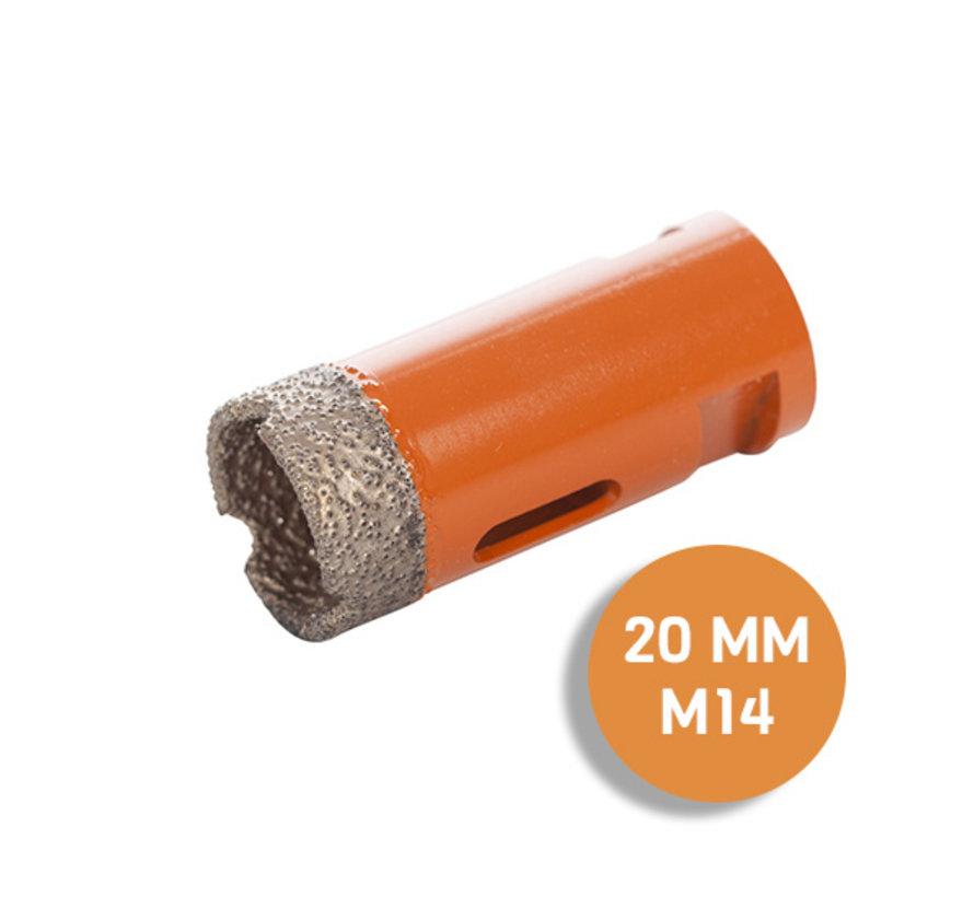 Fix plus ® Tegelboor M14 - Ø 20 mm.
