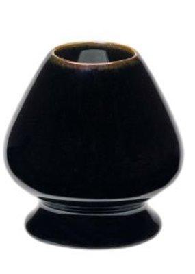 Matcha bezemhouder - zwart/bruin