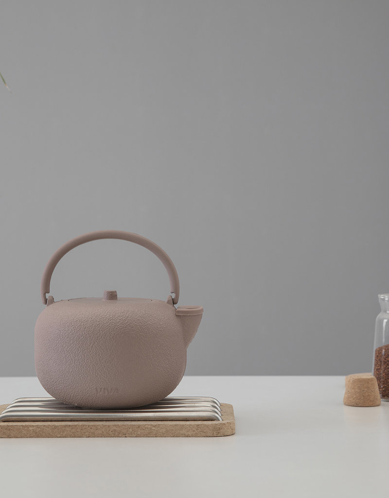 Viva Scandinavia Saga  gietijzeren ronde theepot 800 ml (roze)