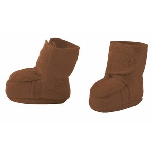Disana baby booties hazelnut