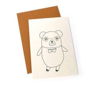 Ted & Tone kaart 'Lennon bear'