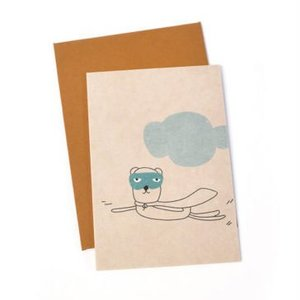 Ted & Tone card 'Otis superhero'