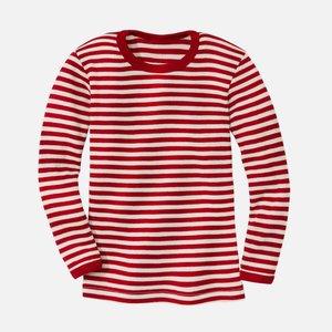 Engel t-shirt laine rouge mélange-écru
