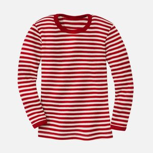 Engel t-shirt wool red melange-ecru