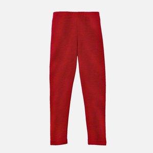 Engel legging laine rouge mélange