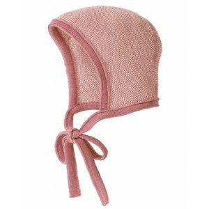 Disana bonnet bébé rose-écru