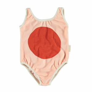 Piupiuchick swimsuit pink with red ball print