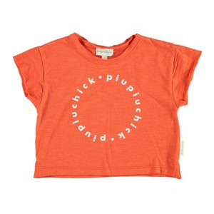 Piupiuchick logo t-shirt red