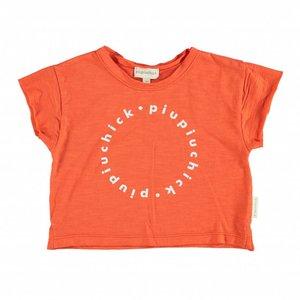 Piupiuchick logo t-shirt red