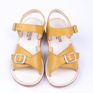 Angulus sandals with adjustable buckles yellow