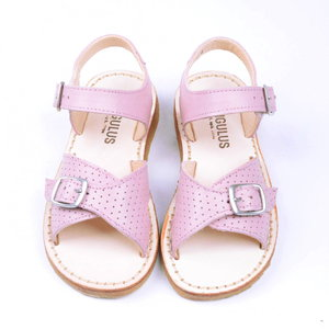 Angulus sandals with adjustable buckles rose