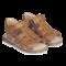 Angulus open sandals with velcro cognac