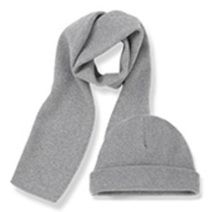 One More in the Family Lucca beanie & scarf light grey