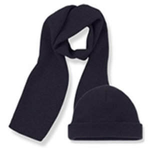 One More in the Family Lucca beanie & scarf dark blue