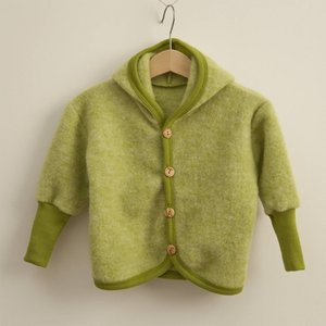 Cosilana hooded jacket wool-fleece/cotton