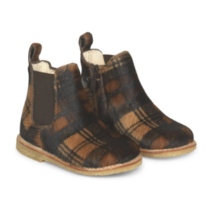 Angulus starter chelsea boot with elastic & zipper pony check