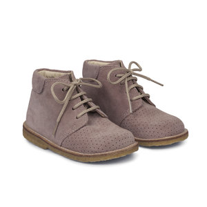 Angulus lace-up shoe with hole pattern lavender