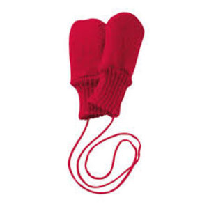 Disana mittens boiled wool red