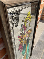 Mirror with Jugendstil drawing Mucha