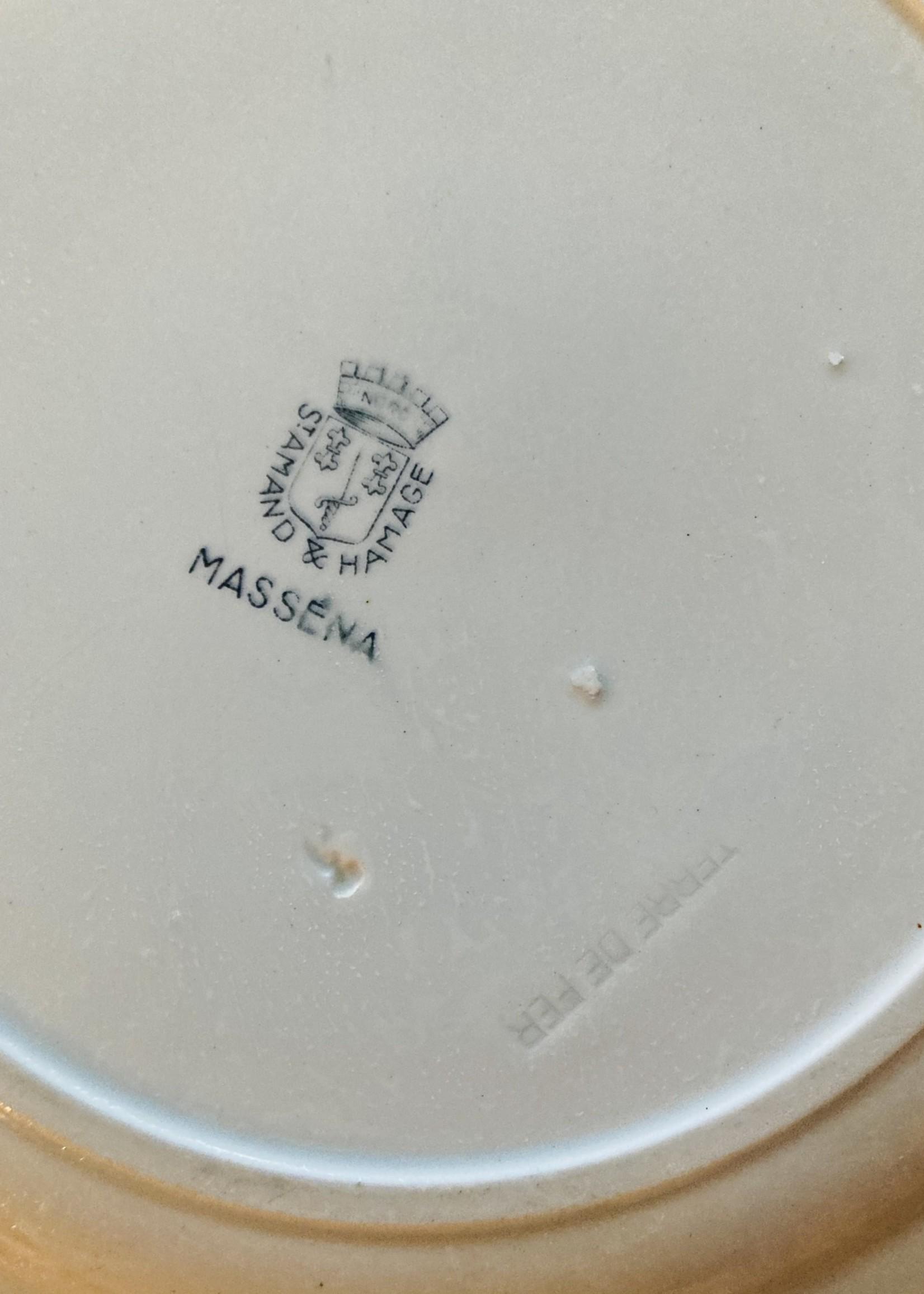 Round serving Dish Terre de Fer St Amand & Hamage Décor Masséna