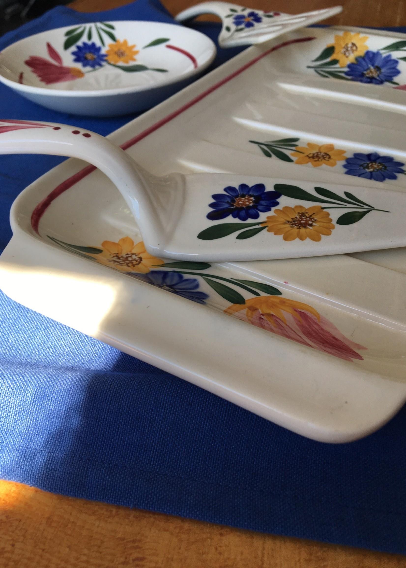 Floral dessert set Selestat by Sarreguemines