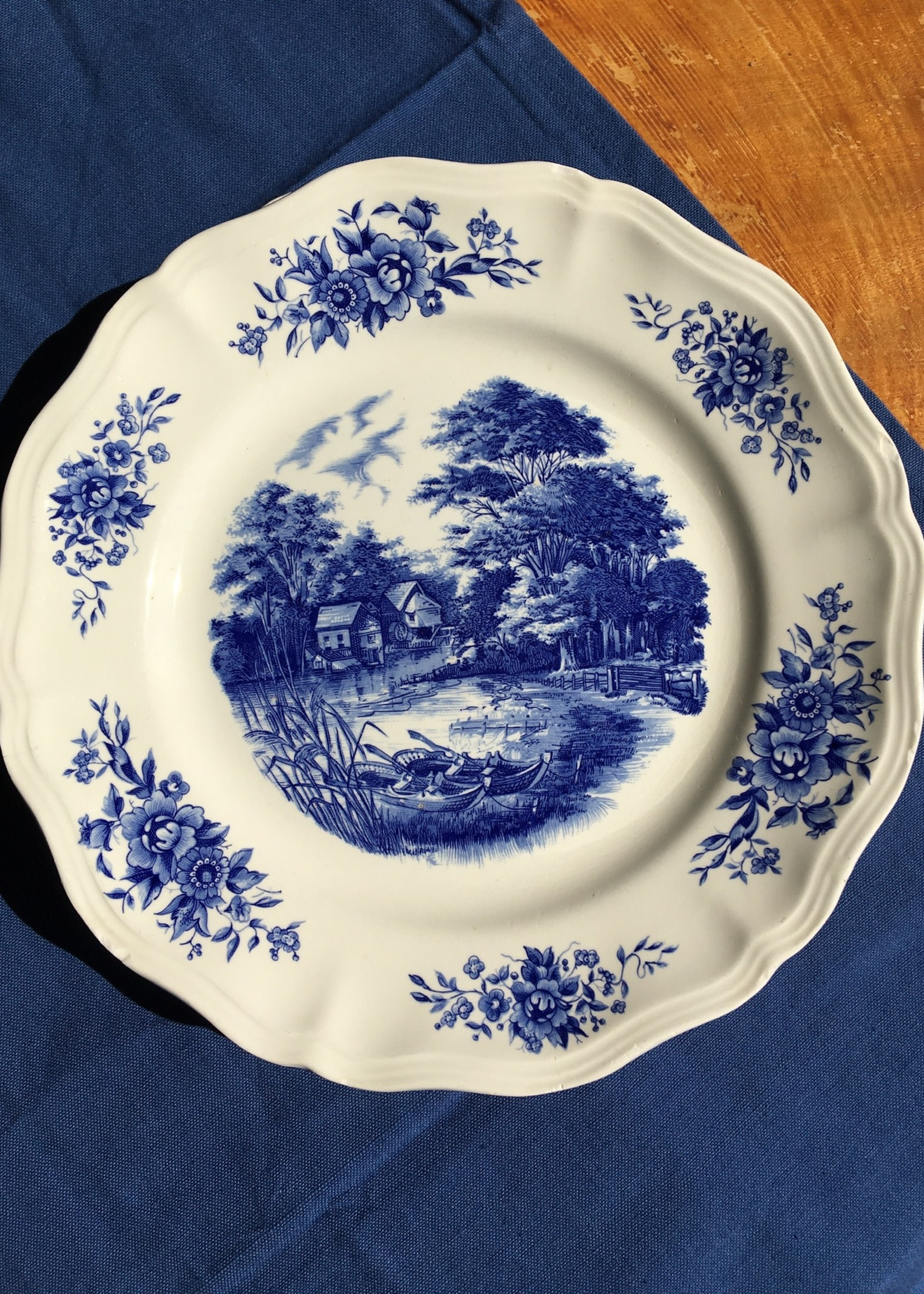Romantic Sarreguemines Large plate